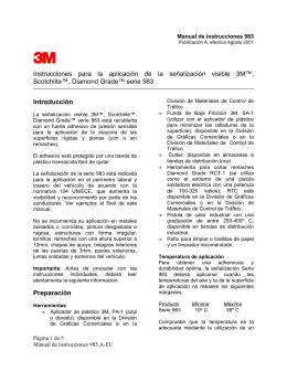 Instrucciones 3M™ Diamond Grade™ Serie 983