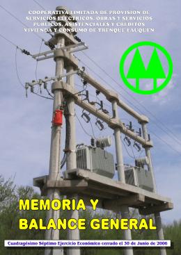 memoria - Cooperativa de Electricidad de Trenque Lauquen