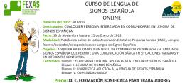 CURSO DE LENGUA DE SIGNOS ESPAÑOLA ONLINE