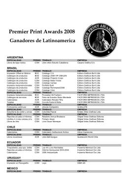 Premier Print Awards 2008