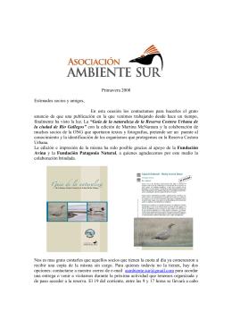 boletin 8 - Asociación Ambiente Sur