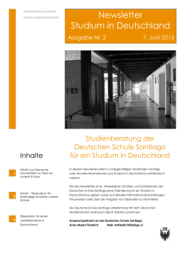Newsletter Studium in Deutschland