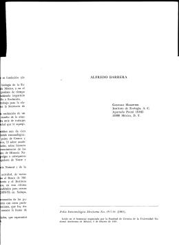 ALFREDO BARRERA - Sociedad mexicana de Entomología