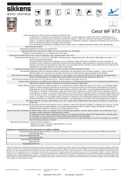 Cetol WF 973 - Interempresas