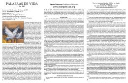 PALABRAS DE VIDA - Evangelio123.org