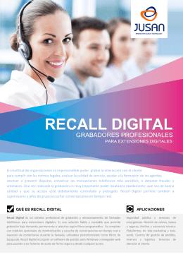 RECALL DIGITAL