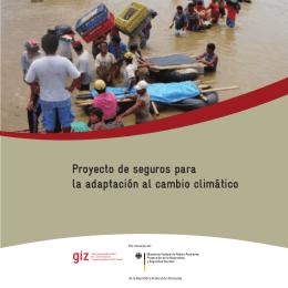 Proyecto de seguros para la adaptación al cambio climático