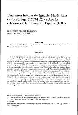 Una carta inédita de Ignacio María Ruiz de Luzuriaga (1`763