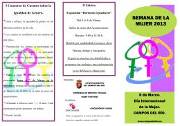 SEMANA DE LA MUJER 2013 - Ayuntamiento Campos del Rio
