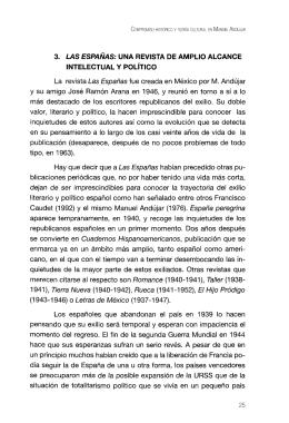 Las Españas, una revista de amplio alcance intelectual y político