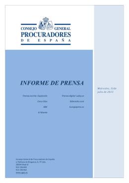 informe de prensa - Consejo General de Procuradores de España