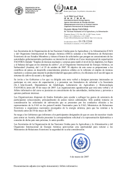 Las Secretarías de la Organización de las Naciones Unidas para la