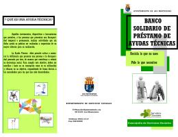 banco solidario de préstamo de ayudas técnicas