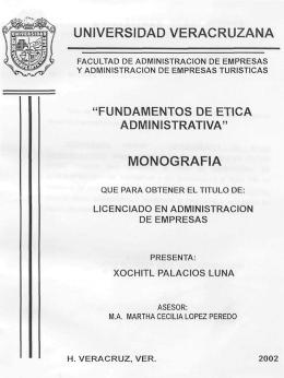 universidad veracruzana monografia - Repositorio Institucional de la