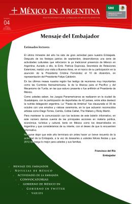 + méxico en Argentina - Secretaría de Relaciones Exteriores