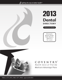 Dental - Coventry Workers` Comp Services