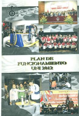 Plan de Funcionamiento UNI 2012 - ocpla