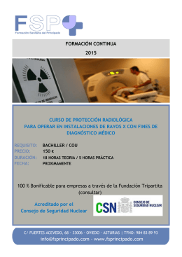 www.fsprincipado.com CURSO DE PROTECCIÓN RADIOLÓGICA