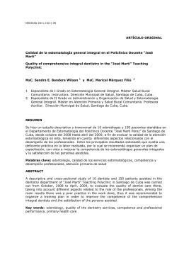 Calidad de la estomatología general integral en el Policlínico