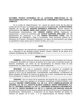 LS-GEV/27/039/05 - Gobierno del Estado de Veracruz