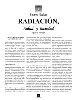 Radiación, salud y sociedad (Quinta parte)