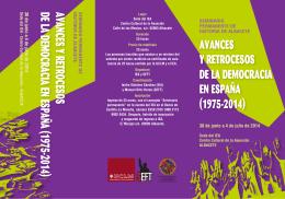 avances y retrocesos de la democracia en españa