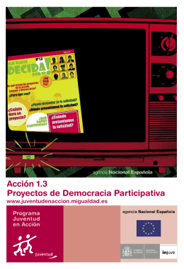 Acción 1.3 Proyectos de Democracia Participativa