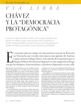 """CHÁVEZ Y LA """"DEMOCRACIA PROTAGÓNICA"""""""