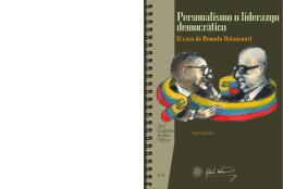 Personalismo o liderazgo democrático