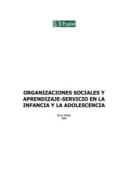 Organizaciones sociales y aprendizaje-servicio en la