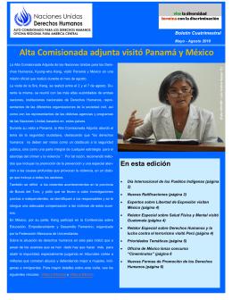 Alta Comisionada adjunta visitó Panamá y México