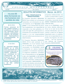 BOLETÍN INFORMATIVO Marzo de 2013