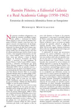 Ramón Piñeiro, a Editorial Galaxia e a Real Academia Galega