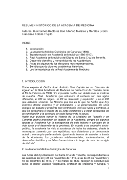 Historia - Real Academia de Medicina de Tenerife