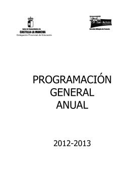 PROGRAMACIÓN GENERAL ANUAL - Colegio Público San Antón