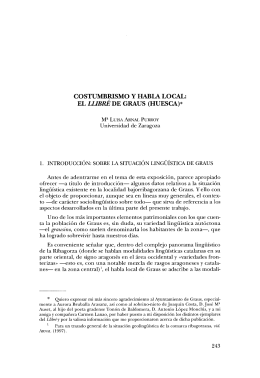 el Llibré de Graus - Institución Fernando el Católico