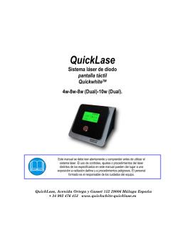 Sistema láser de diodo QuickwhiteTM