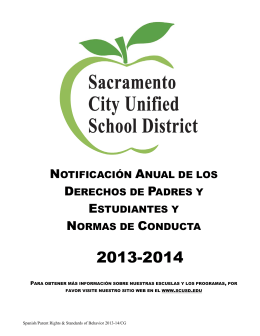 derechos de los padres - Sacramento City Unified School District