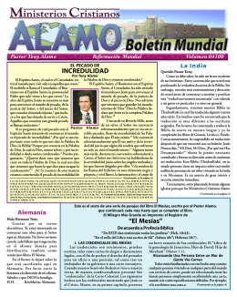 El Pecado de Incredulidad - Tony Alamo Christian Ministries