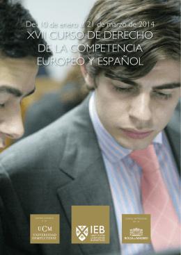 xvii curso de derecho de la competencia europeo y español