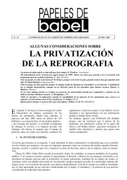 la privatización de la reprografia - 1479 Colegio Mayor Ramón Acín
