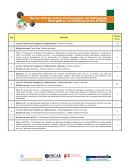 Programa del Curso - UNEP Finance Initiative