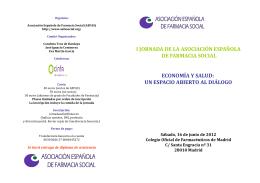 Programa - Colegio Oficial de Farmacéuticos de Pontevedra (COFPO)