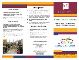 Folleto de Familias en Forma - Extension Family & Consumer