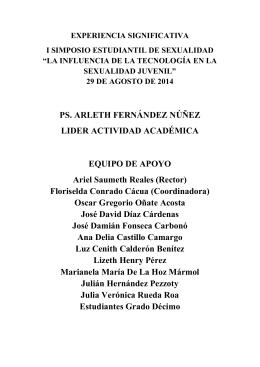 PS. ARLETH FERNÁNDEZ NÚÑEZ LIDER
