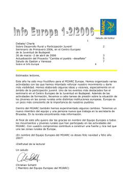 INFO EUROPE 1-2006