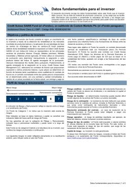 Key Investor Information: IE00B3Q6S195