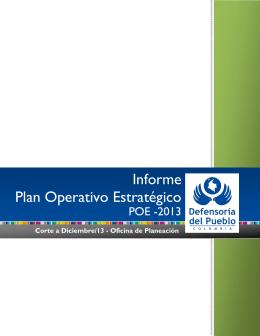 Informe Plan Operativo Estratégico