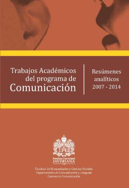 2007 - 2014 - Pontificia Universidad Javeriana, Cali