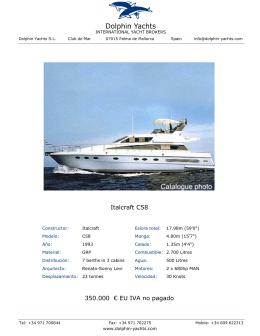 Italcraft C58 350.000 € EU IVA no pagado
